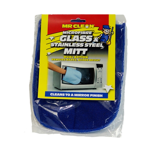 Microfibre-Glass--Stainless-Steel-Mitt
